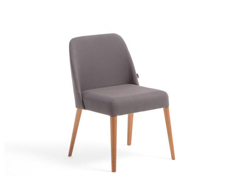 Cadeira Rosini - Cinza Base Trigo