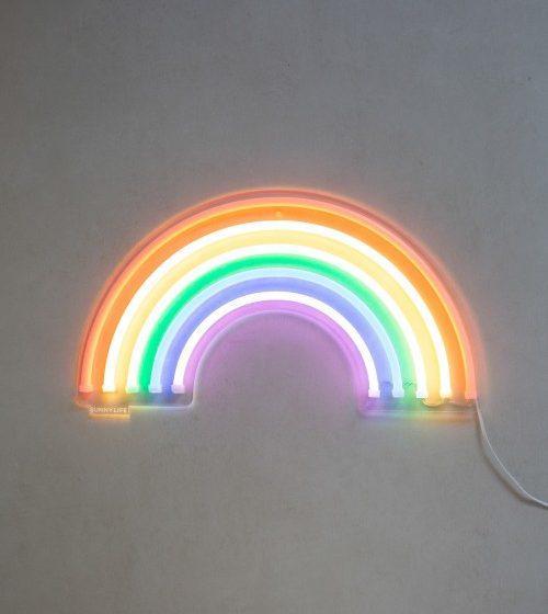 luminaria neon led arco iris