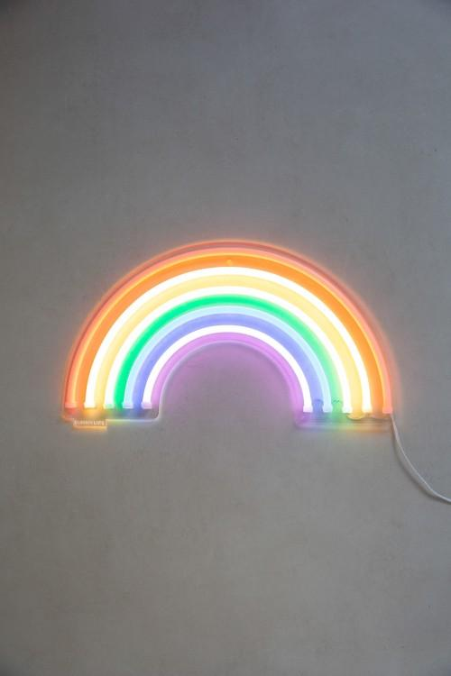 Neon Arco-Íris Led Pequeno