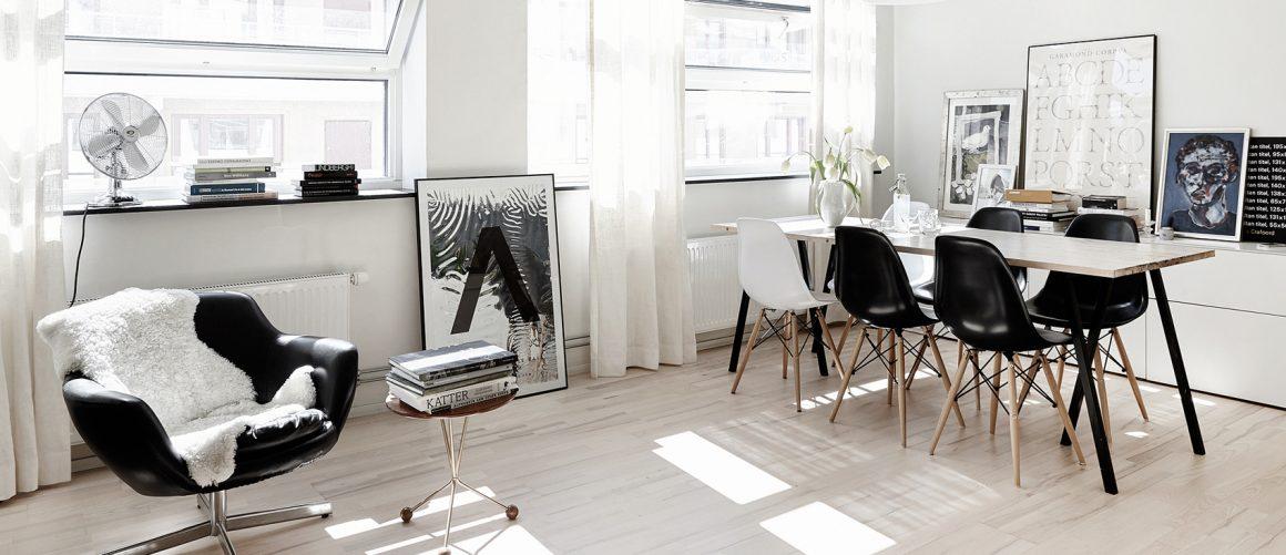 ambiente integrado de sala de jantar e estar