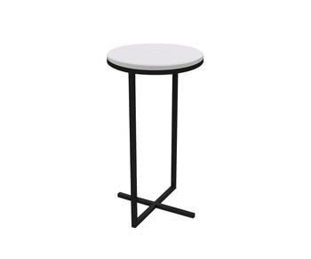 mesa lateral volpi em metal preto