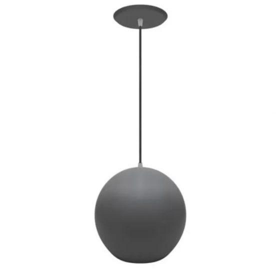 pendente esfera preta lustre