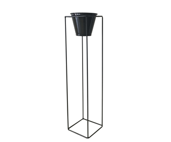 suporte de piso com vaso para horta