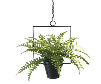 suporte de teto com vaso para horta