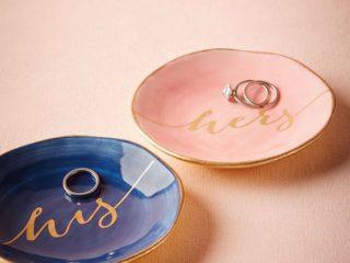 pratinhos de anel de casamento