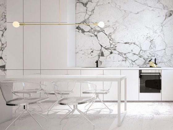 o domínio do mármore no design de interiores