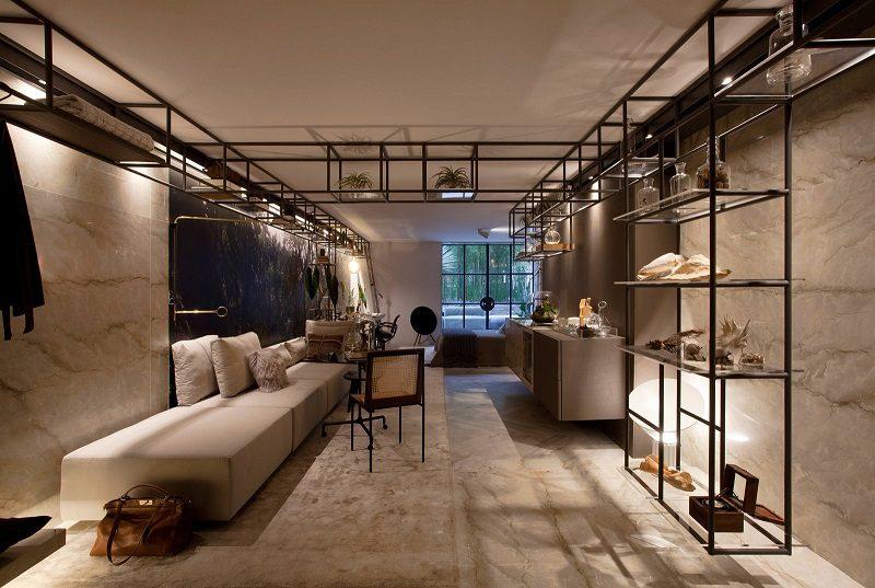 Ambiente da Casa Cor SP 2017 da arquiteta Sandra Moura. Living. Sala de Estar