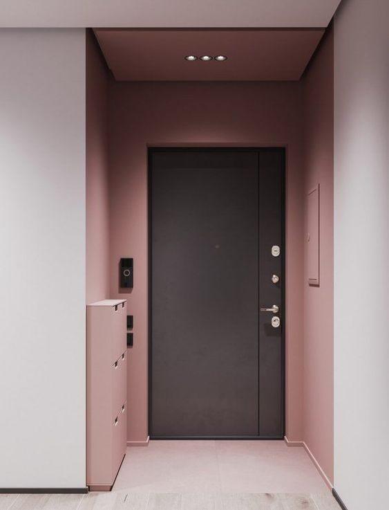 porta-preta-com-paredes-rose-quartz