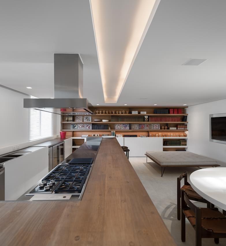 cozinha do apartamento urca de arthur casas