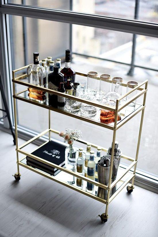 As melhores ideias para montar o seu carrinho bar