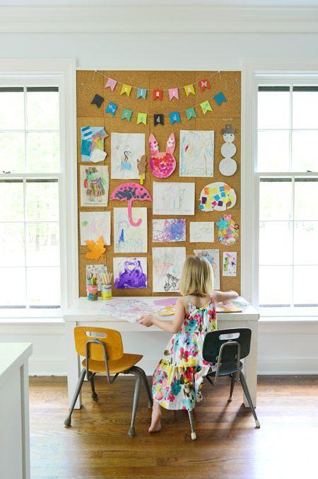 como decorar com a arte dos filhos