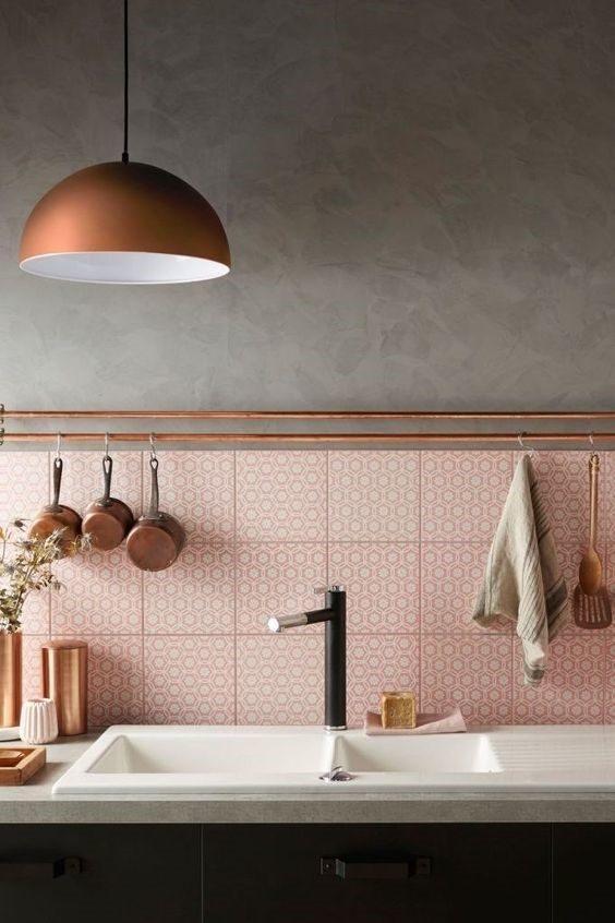 revestimento ceramico rosé quartz
