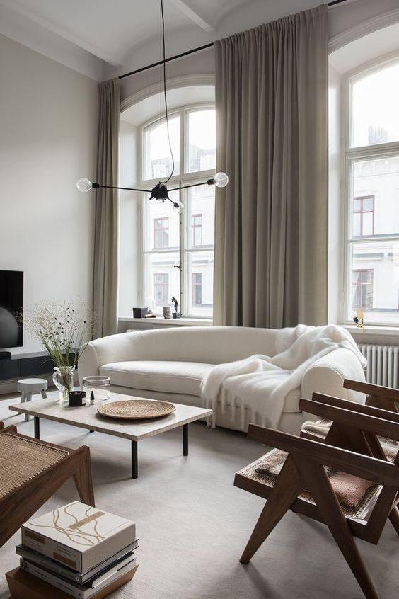 sofá moderno ondulado