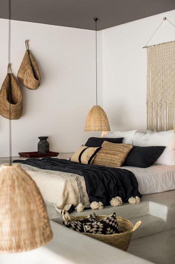 dormitório com decoração  otal handmade
