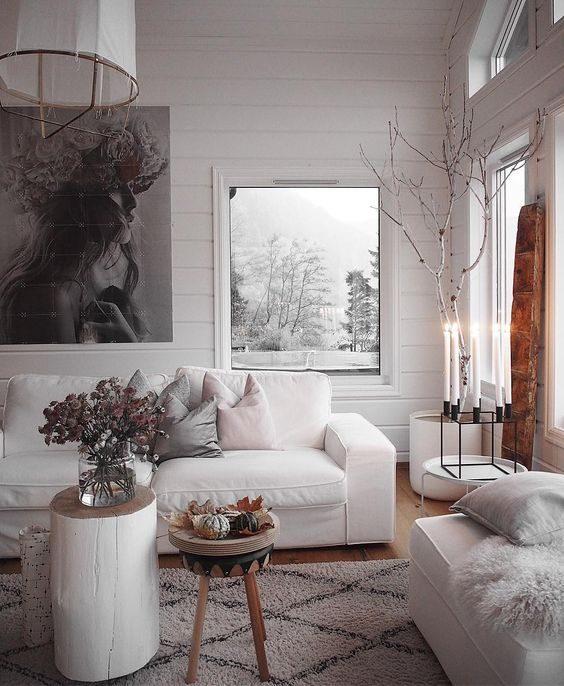 sofá moderno branco