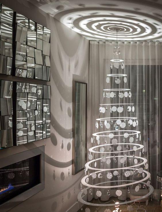 árvore de natal tipo móbile