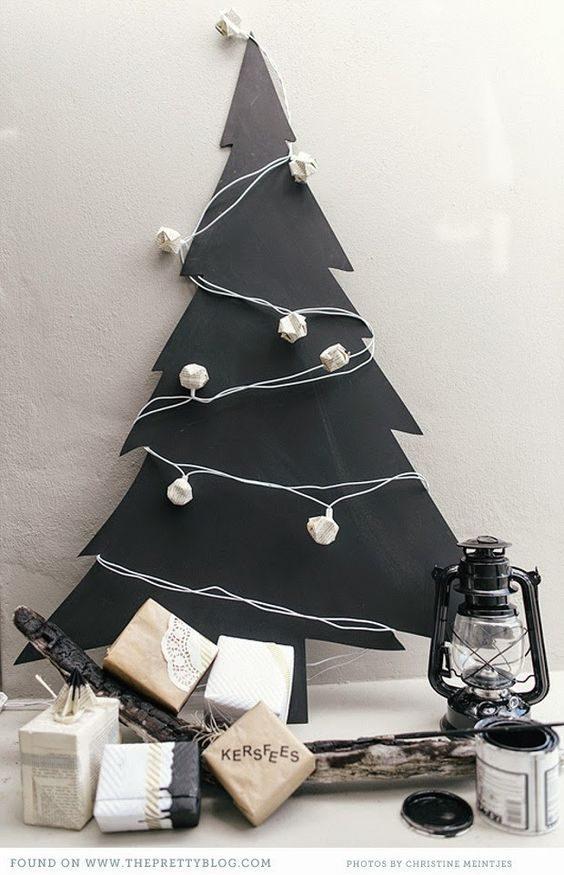 árvore de natal toda preta