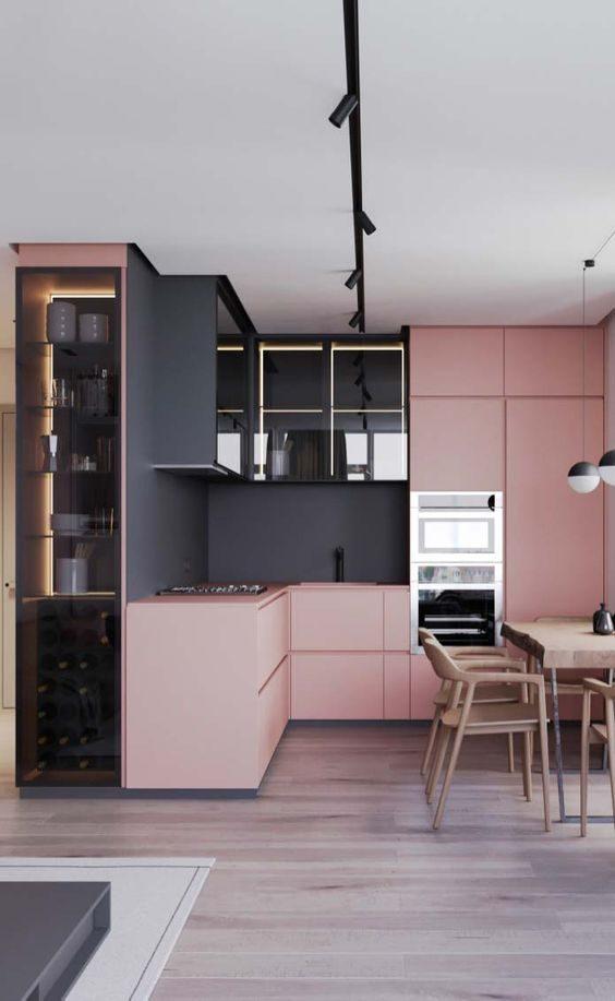 marcenaria rosa com preto