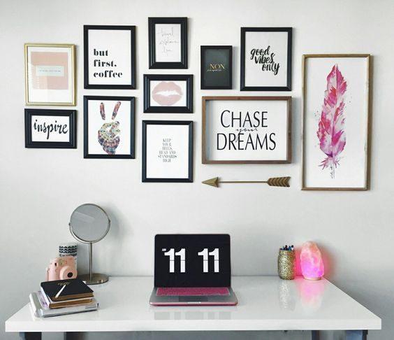 composição de posteres pink