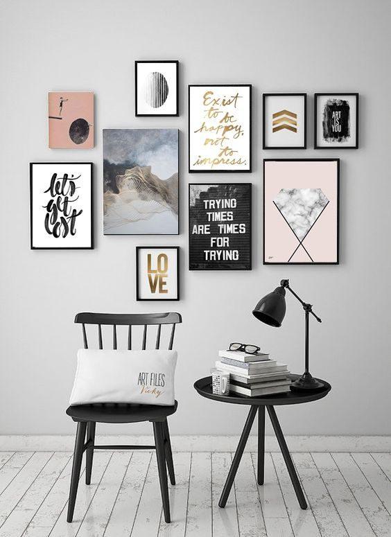 composição de posteres escandinava