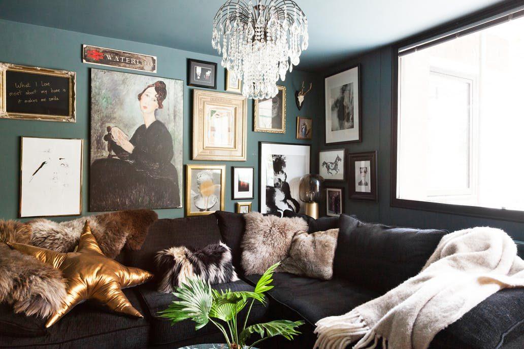 sala de estar maximalista