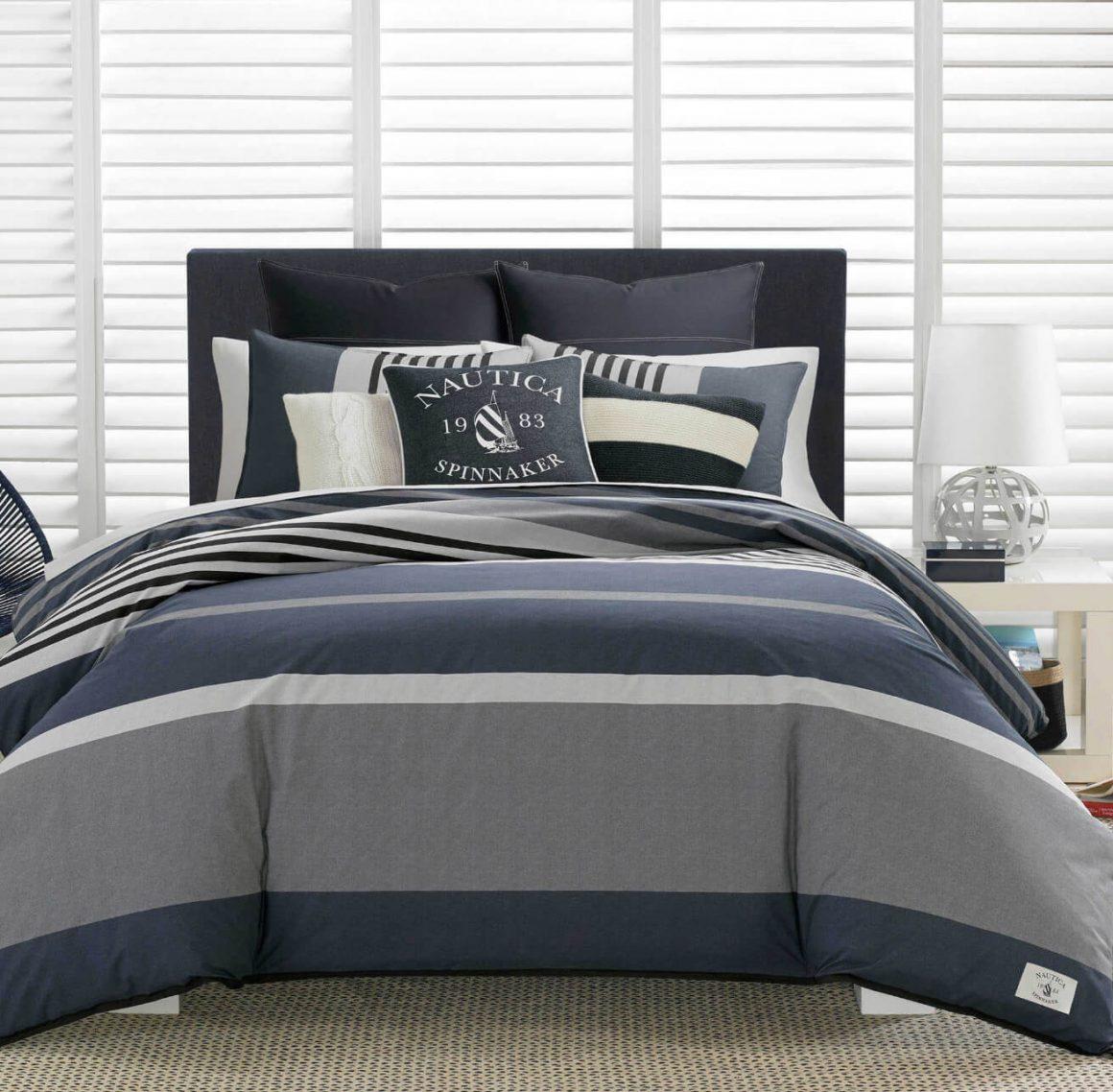 cama com mix de estampas nauticas