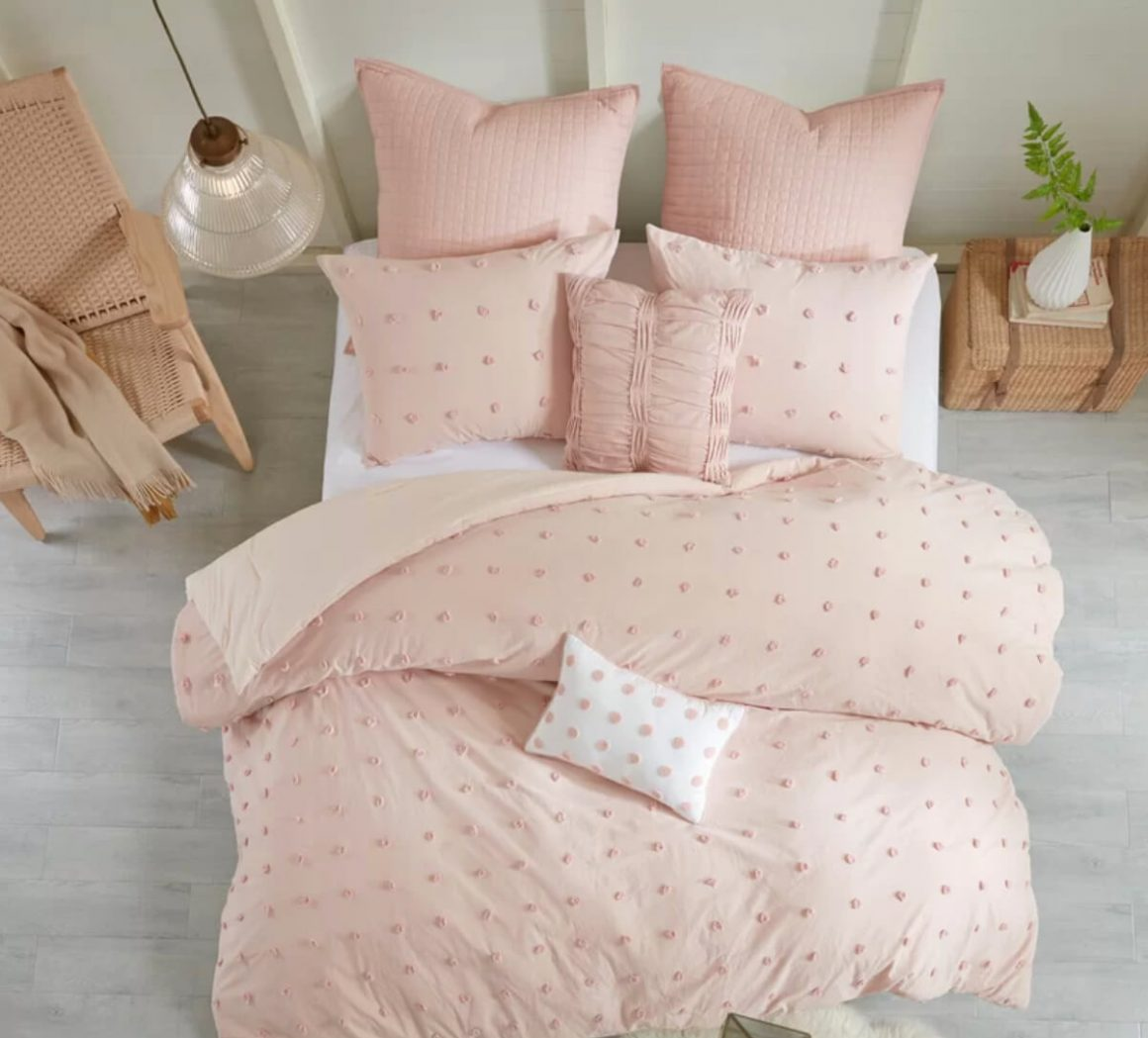 cama degradê de rosa