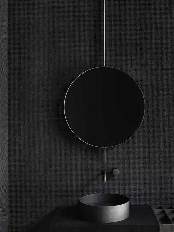 banheiro todo preto all black