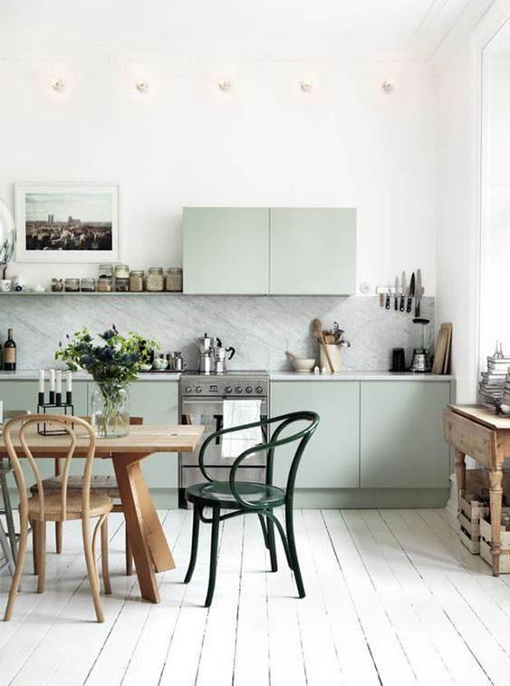 cozinha com armários neo mint