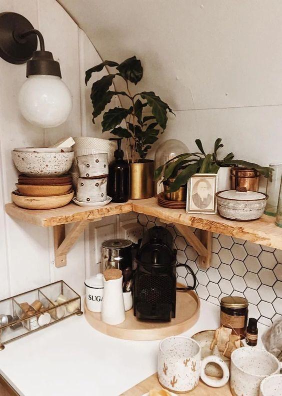 louças handmade em cozinha