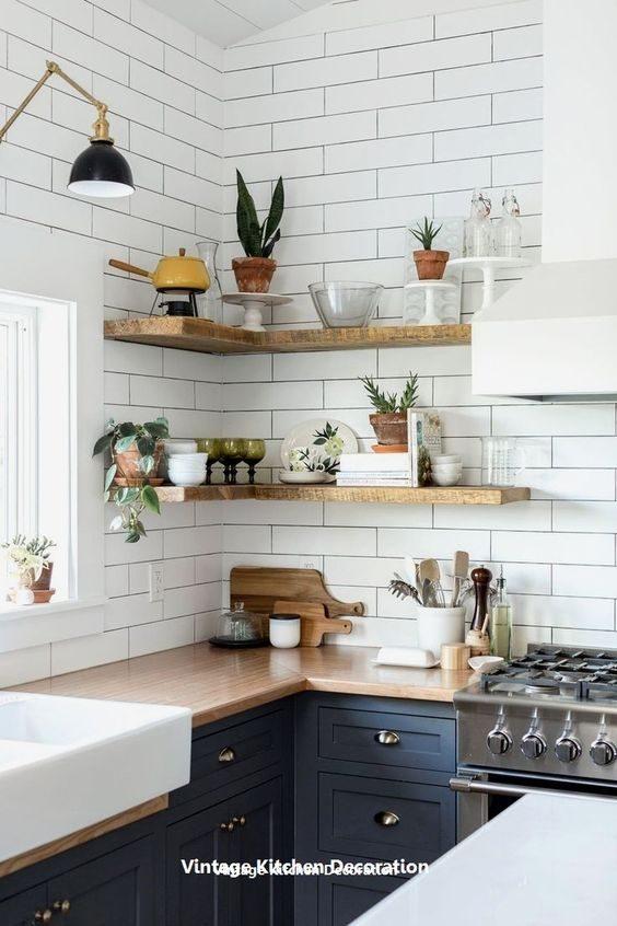 open shelving em cozinha contemporânea