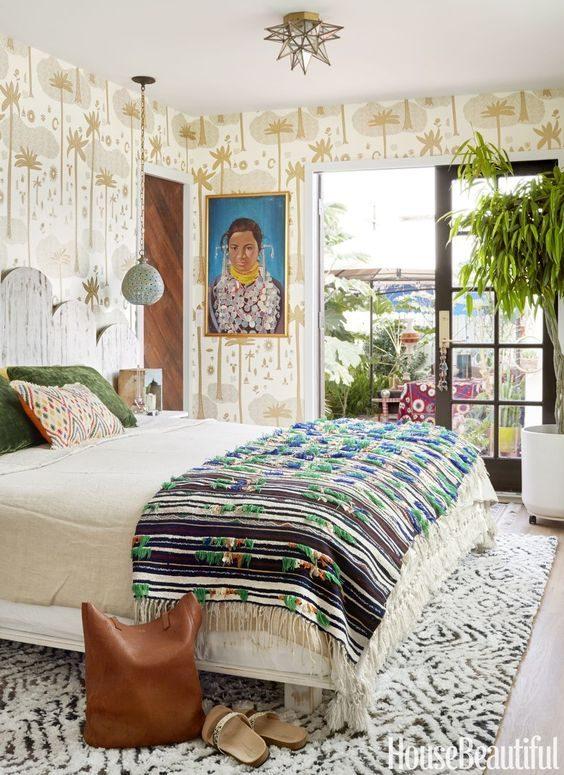 dormitório étnico em jungalow style