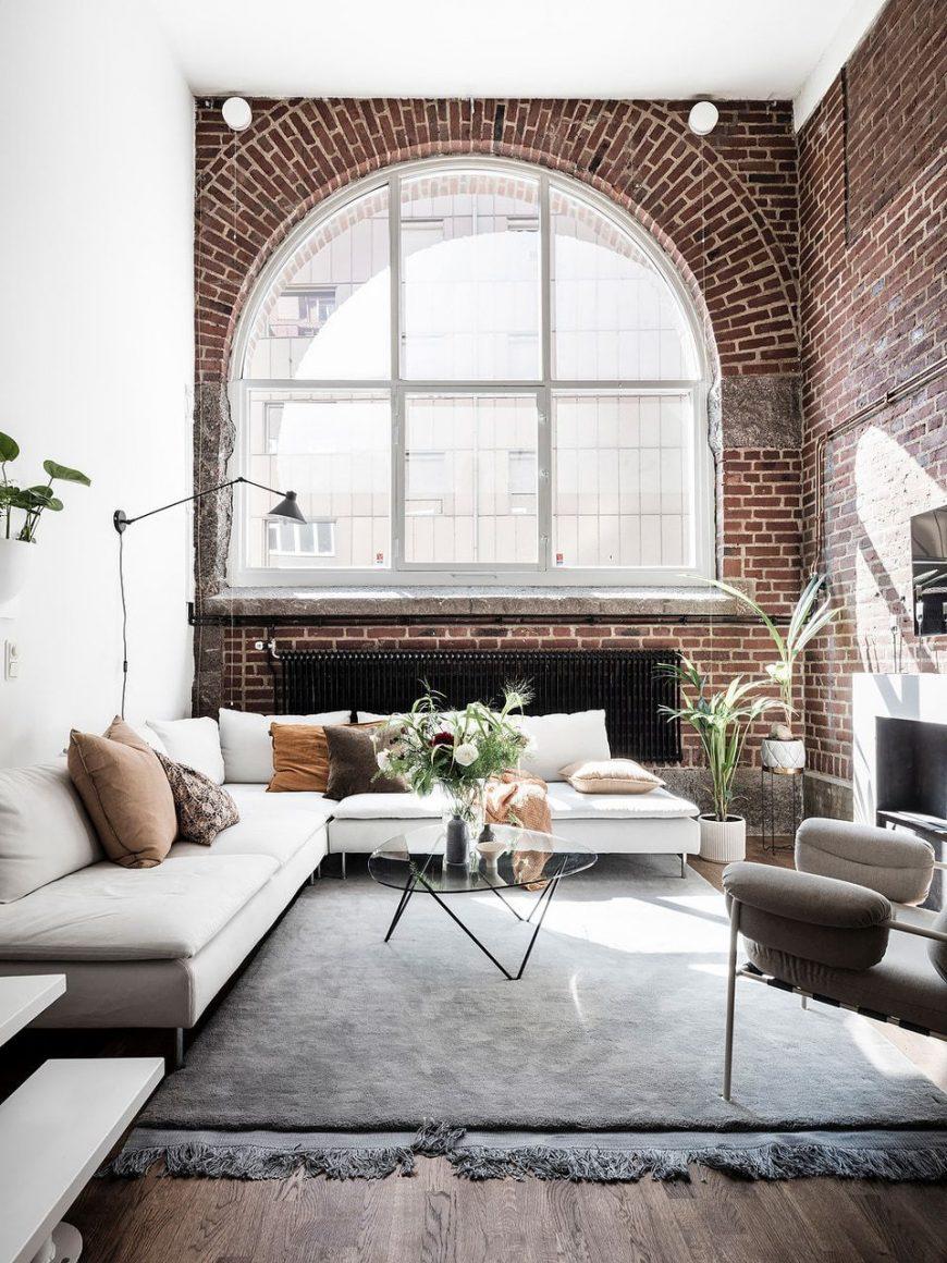 sala clean estilo industrial
