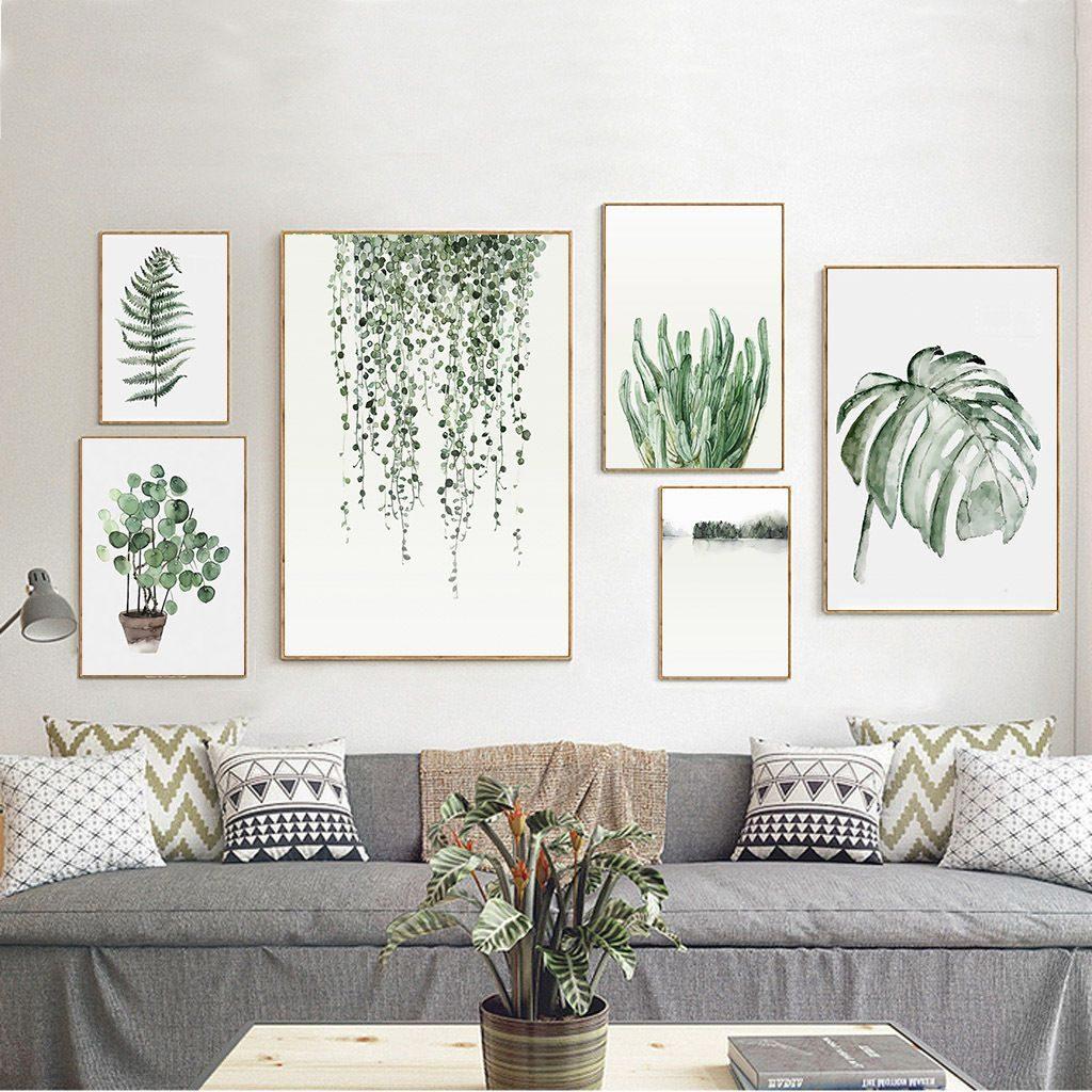 composição de posteres de vegetação