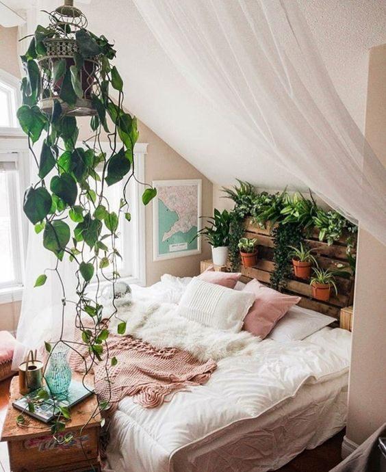 quarto com floresta urbana