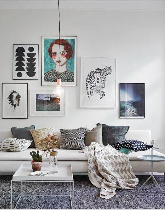living com composição de posteres