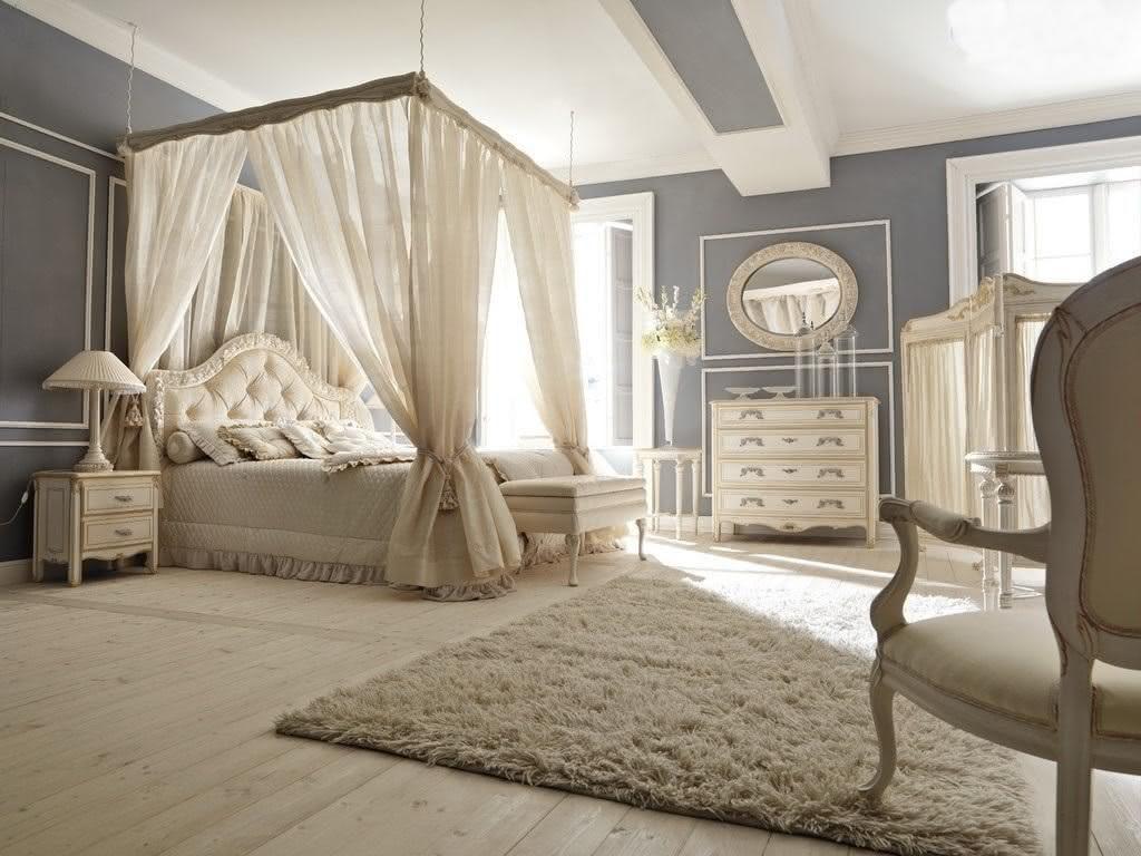 cama com dossel romantico