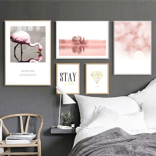 composição de posteres rosa
