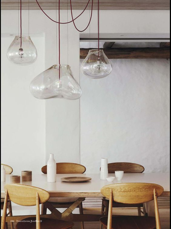 lustre minimalista fios com vidro