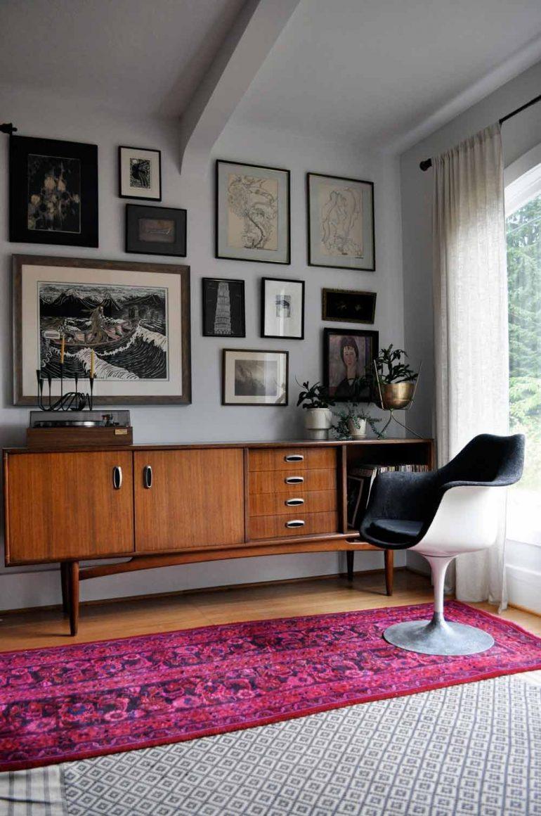 mid century modern na decoração