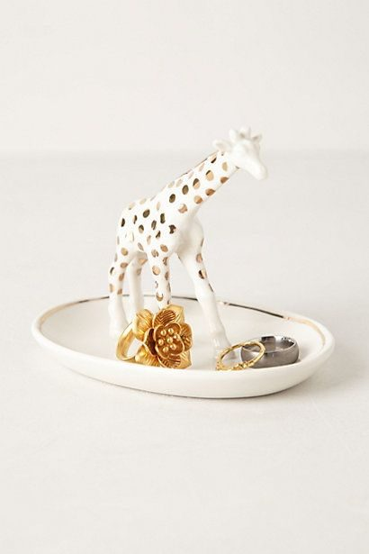 pratinho de anel com girafinha no meio