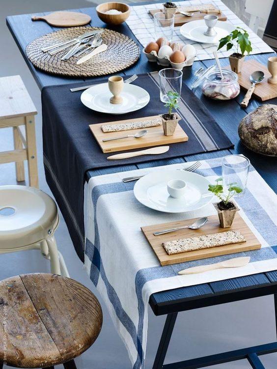 tábua na decoração de mesas