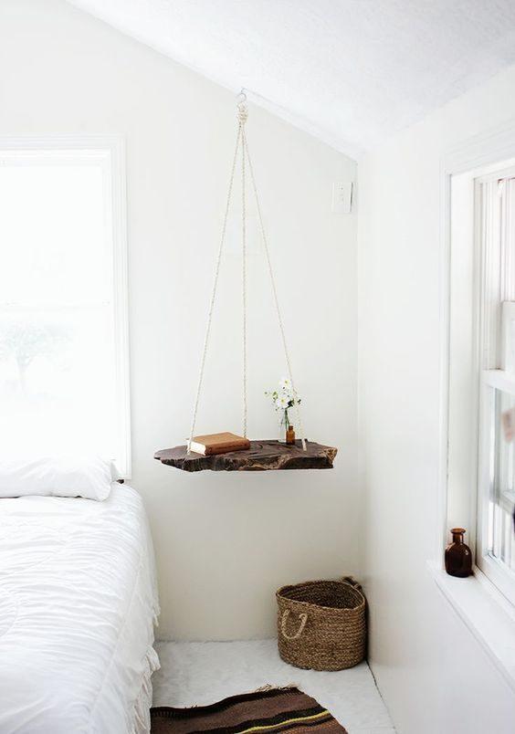 mesinhas de cabeceiras para espaços pequenos