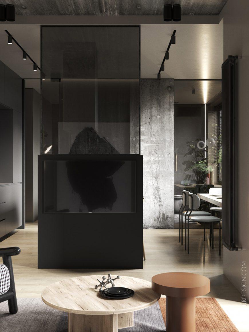 apartamento cartelle design monocromático