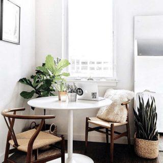 mesas de jantar para espaços pequenos
