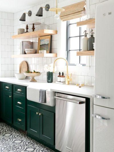 8 tons de verde perfeitos para cozinhas