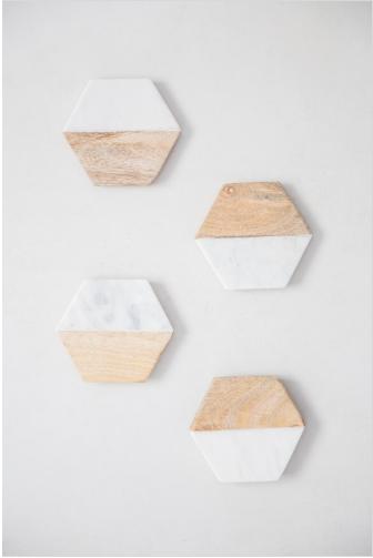 Descanso de Copo Hexagonal