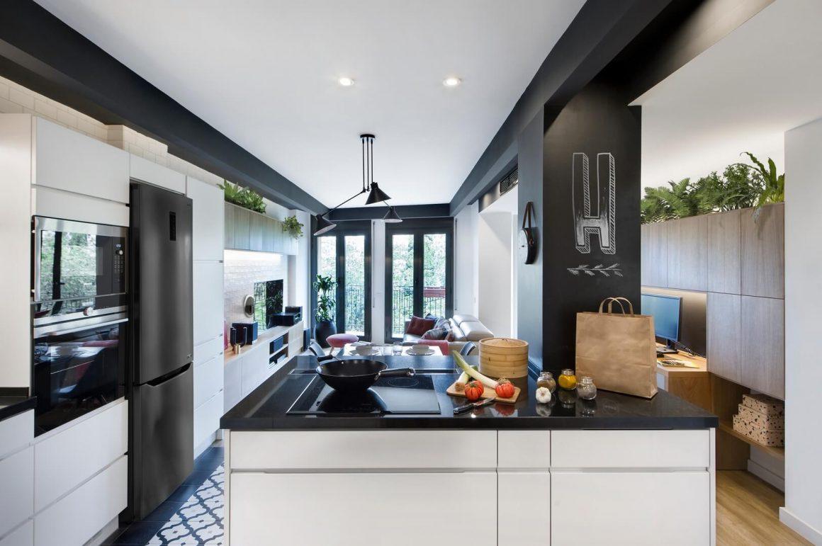 loft apartamento minimalista industrial
