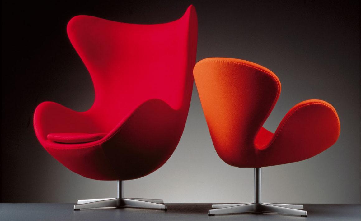 Cadeira Egg Vermelha e Laranja