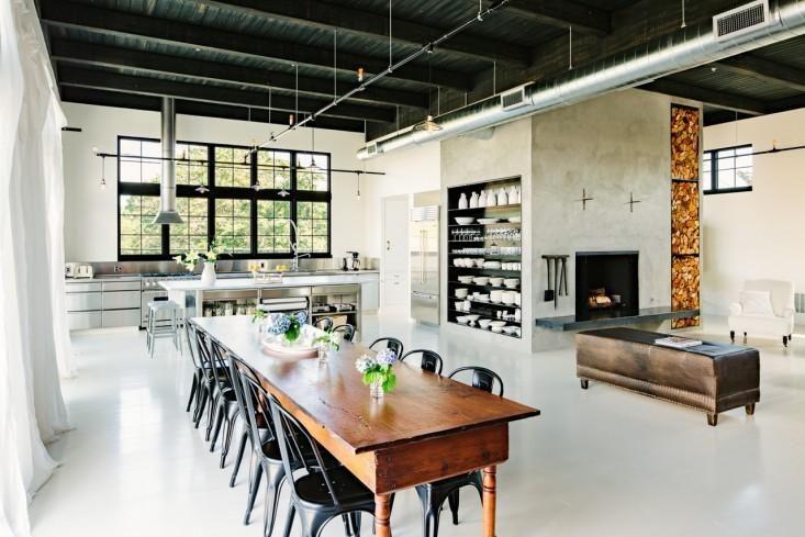 cozinha americana no estilo industrial